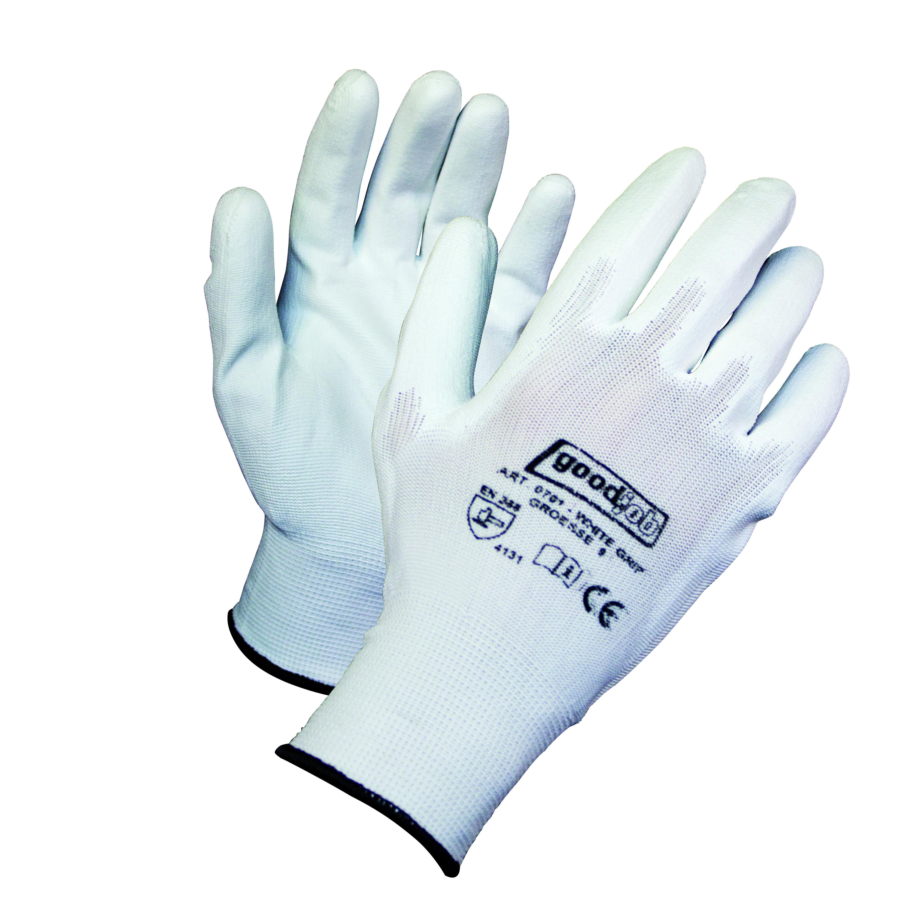 White Grip Handschuh