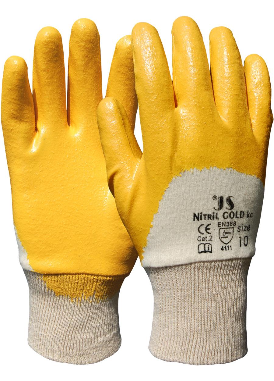 Nitril-Gold Handschuh