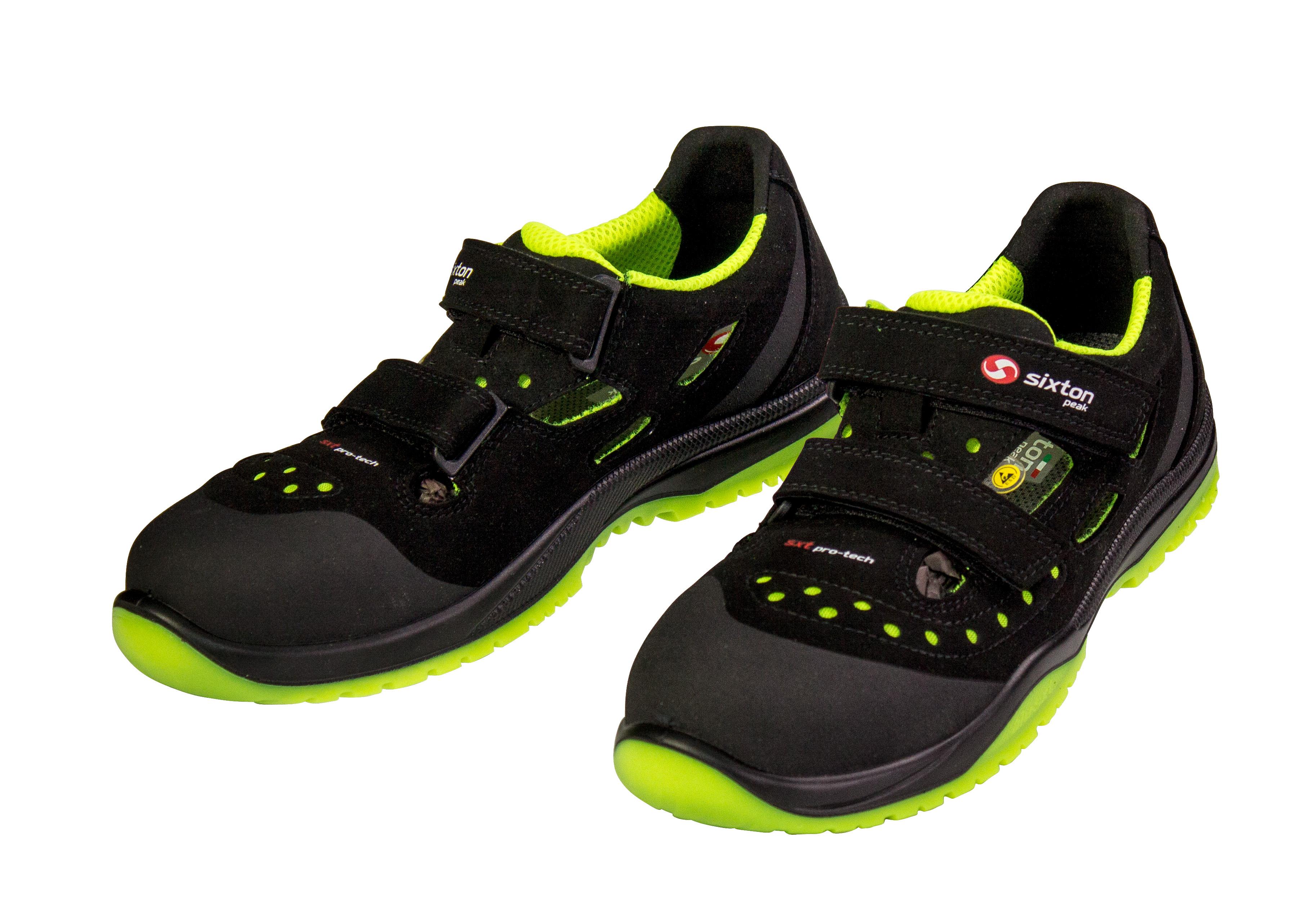 Rimini Sandale S1P ESD schwarz/gelb